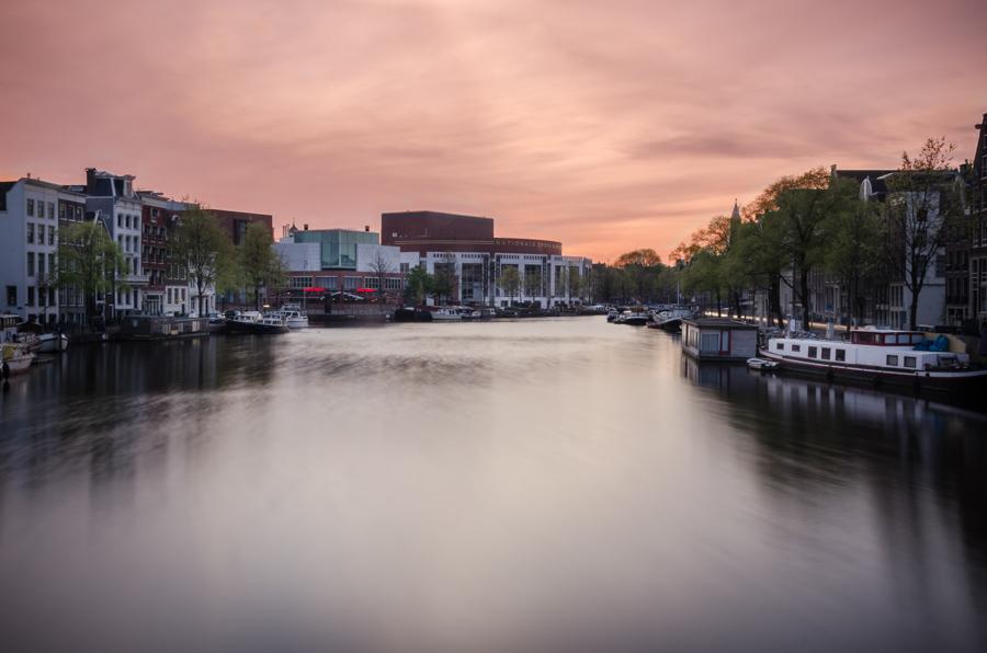 Morning on Amstel, Amsterdam, Netherlands