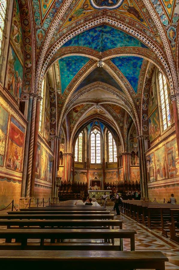 In upper church of Basilica di San Francesco, Assisi, Italy