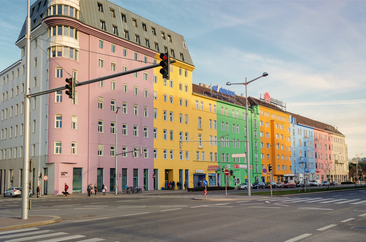 Image result for colorful building in vienna