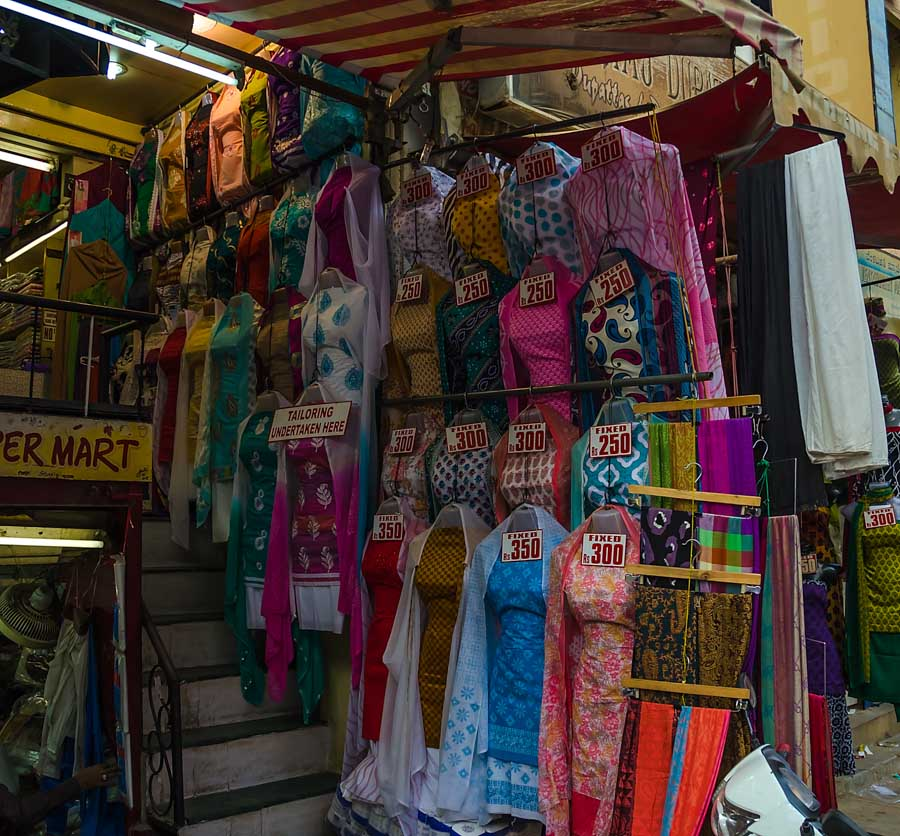 A shop on Commercial Street, Bangalore