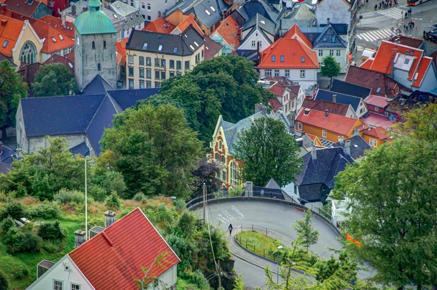 View from Mount Fløyen, Bergen, Norway