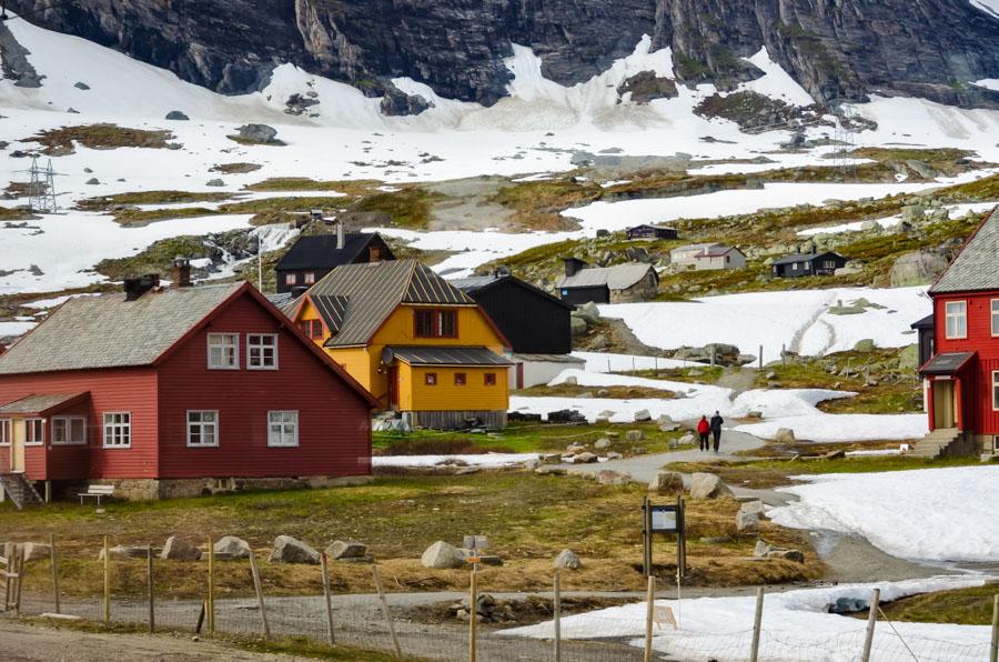 Finse, the highest point of Bergen Railway, Norway