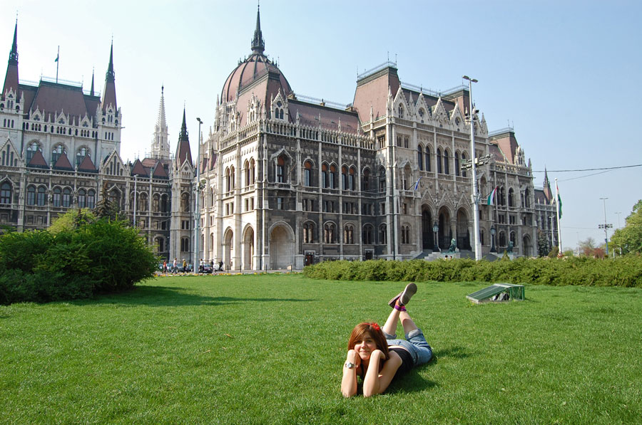 On Kossuth Square in Budapest in front of the Parliament