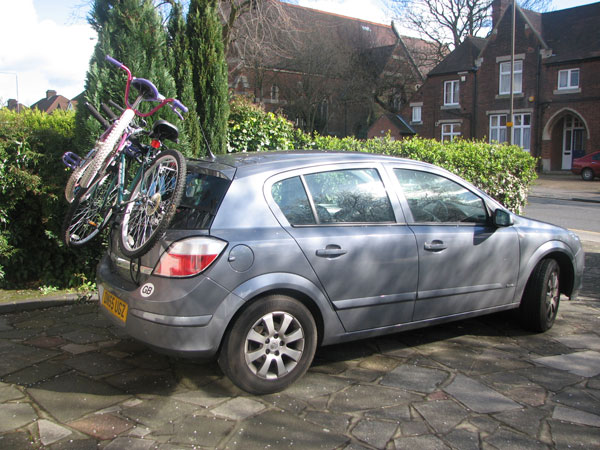 Car with bikes