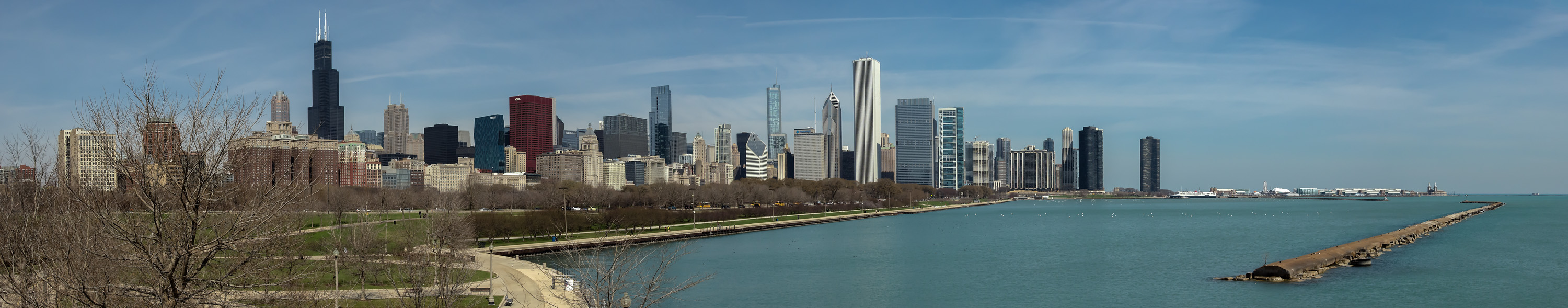 Chicago as seen from Shedd Aquarium