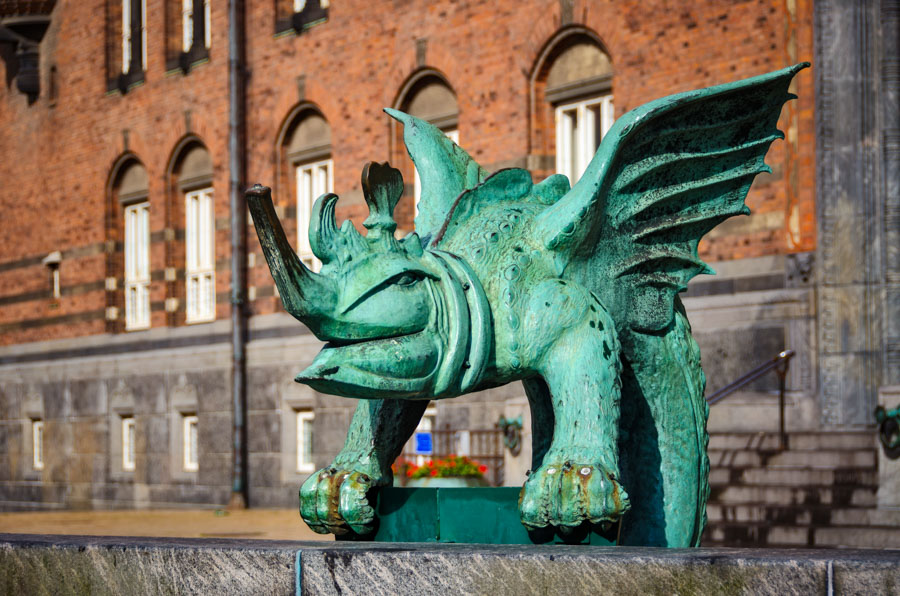 On City Hall Square, Copenhagen