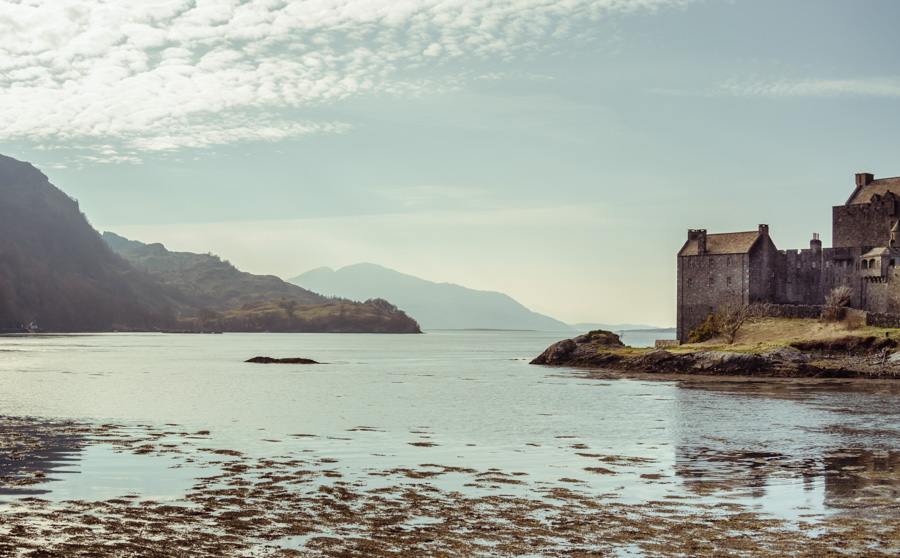 View to Loch Alsh at Eilean Donan castle, Scotland