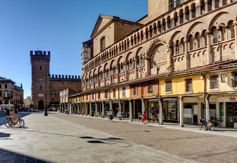 Piazza Trento e Trieste, Ferrara, Italy