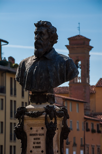 The bust of Cellini, Firenze, Italy