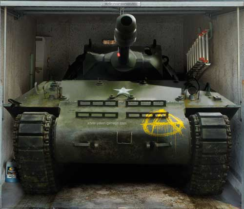 Tank in the garage?