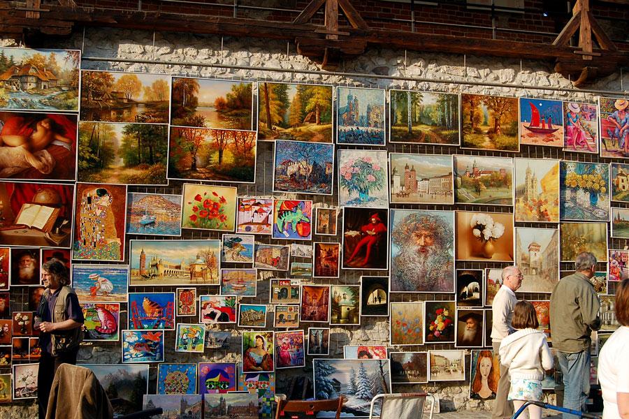 Art Market, Florian Gate, Cracow