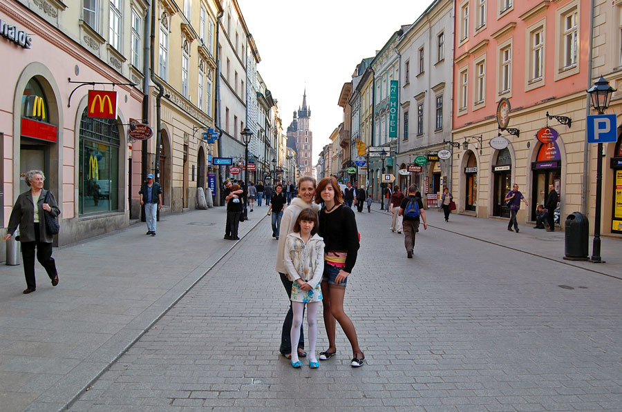 On Florianska Street in Cracow Old Town