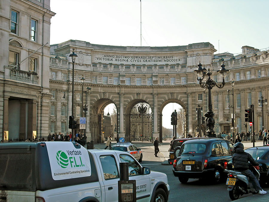Admiralty Arch as viewed from Trafalgar Square