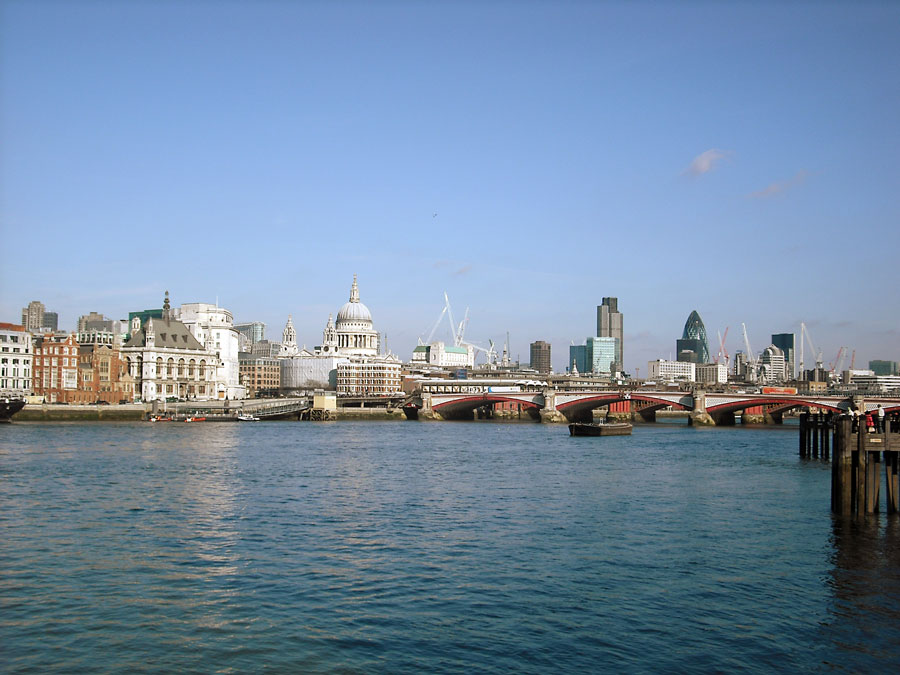 View of the City of London from Southbank