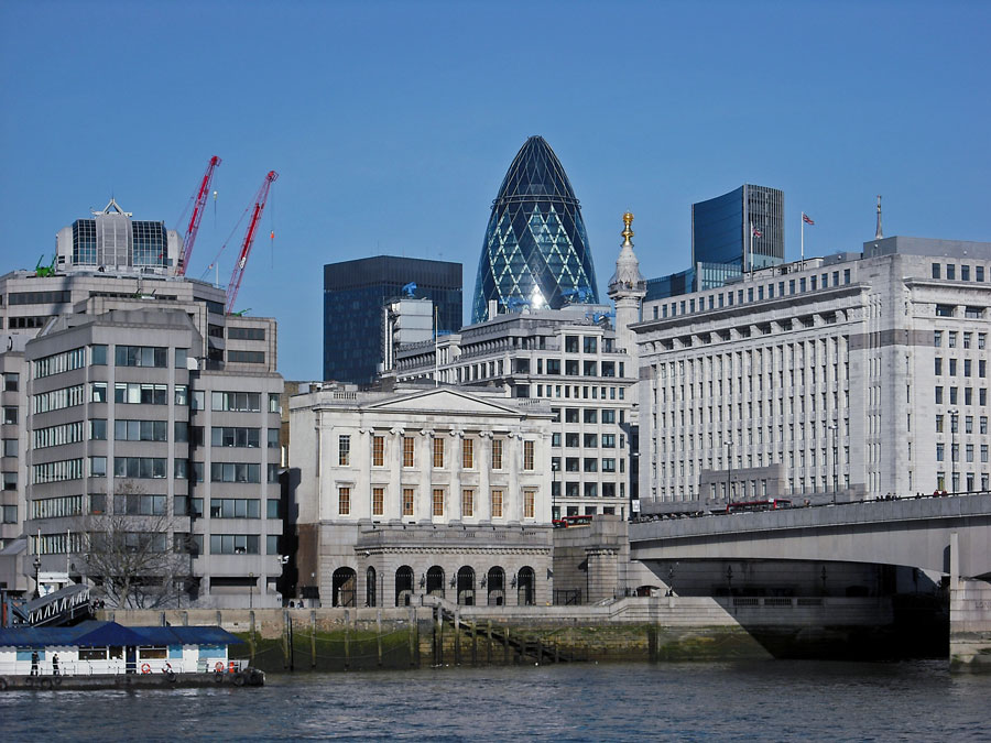 The City of London and the Gherkin