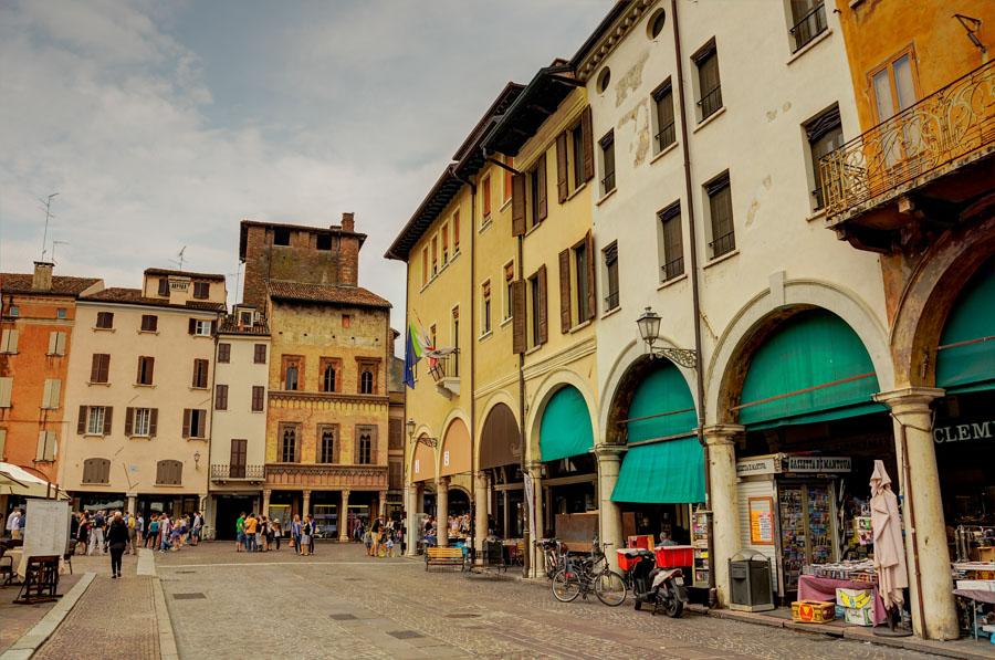 Piazza delle Erbe, Mantua, Italy