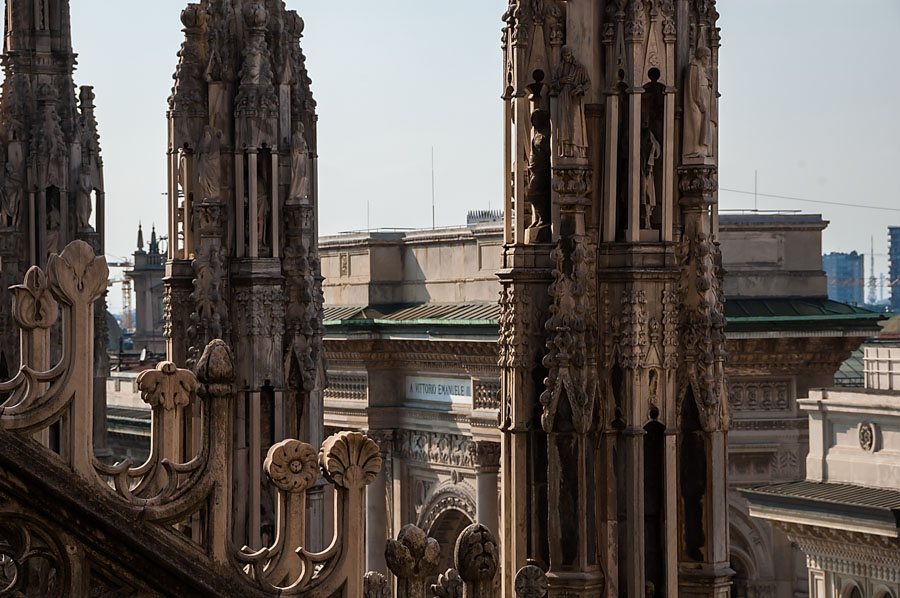 On the roof of Milan Cathedral