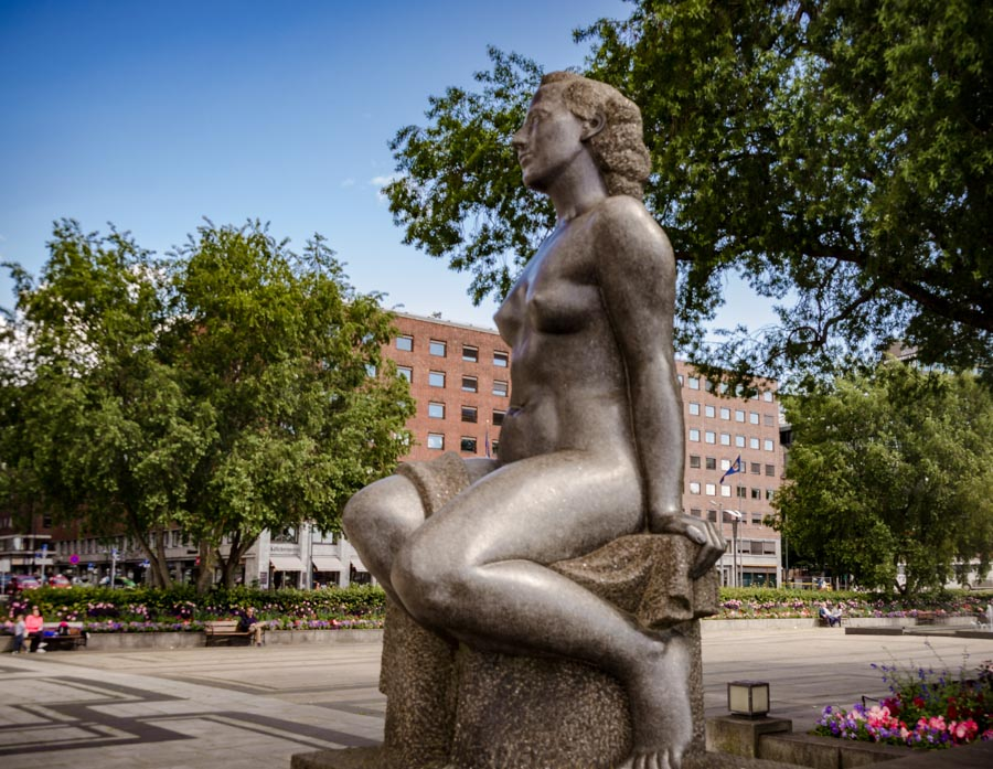 Sculptures in central Oslo