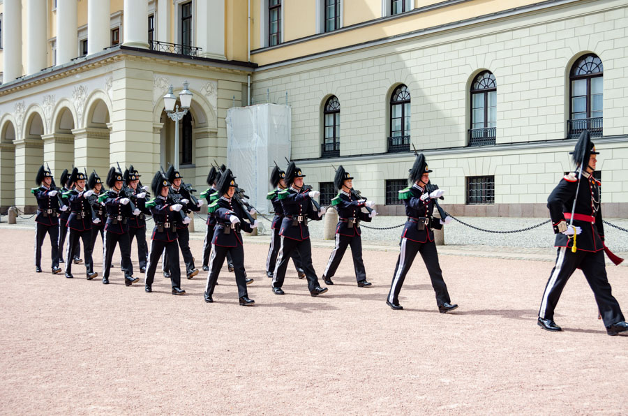 The Royal guards, Oslo