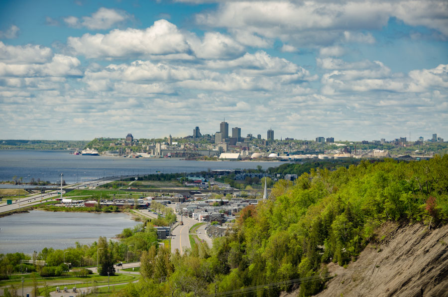 View to Quebec City from Montmorency Falls
