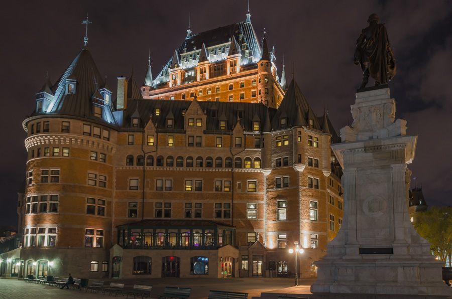 Chateau Frontenac and Champlain Monument, Quebec City
