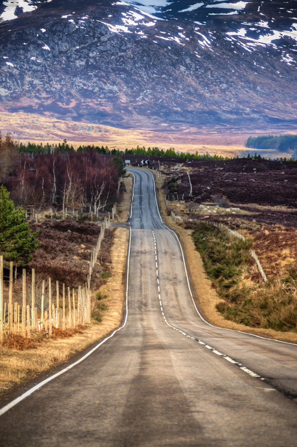 A road near Dalwhinnie, Scotland