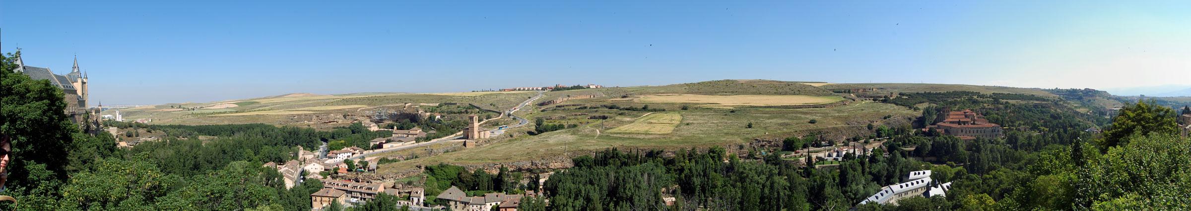 180-degree view from Segovia Alcazar