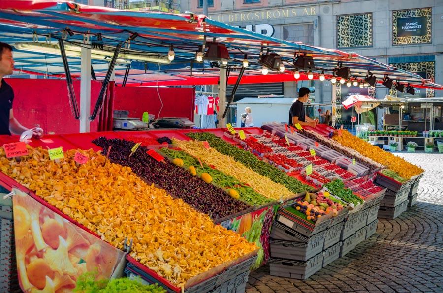 Stalls at Hotorget, Stockholm