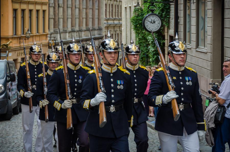 Royal guards, Stockholm