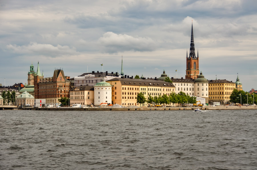 View to Riddarholm Church from City Hall, Stockholm