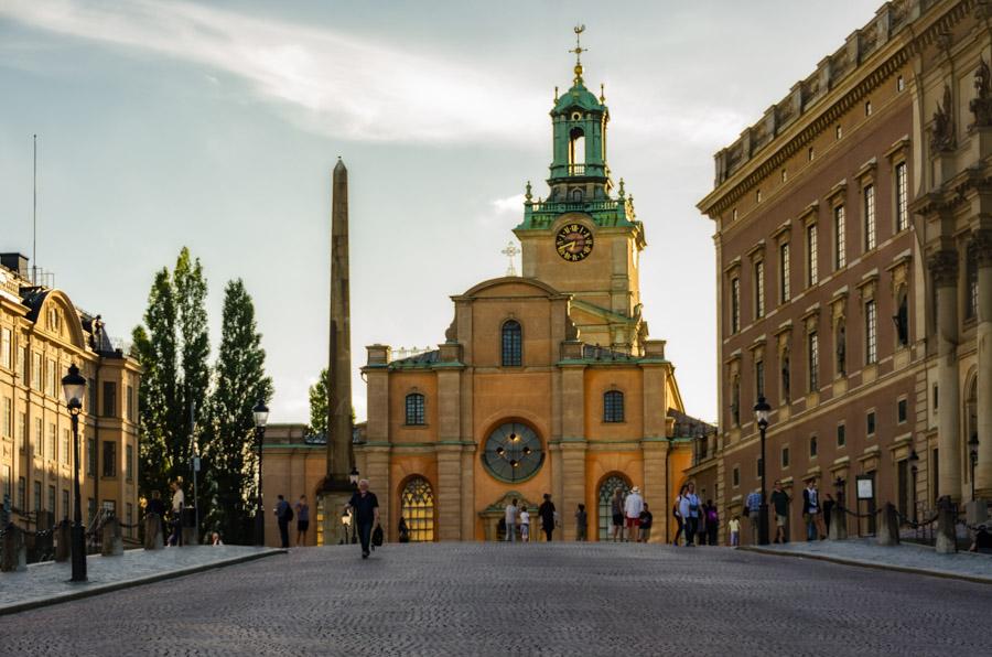View along Royal Palace to Storkyrkan, Stockholm