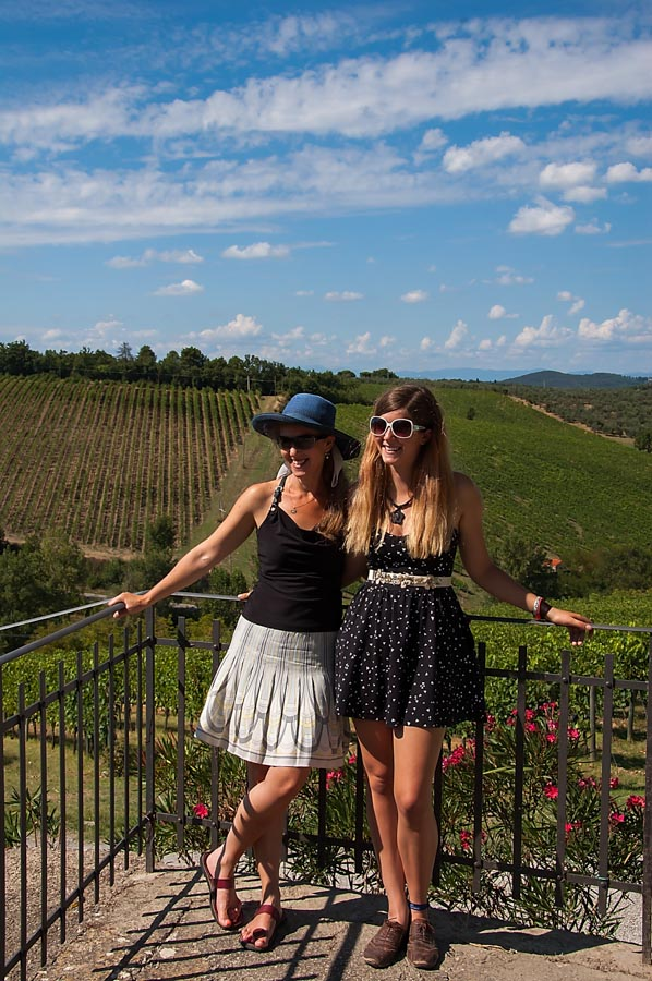 On a Tuscan winery