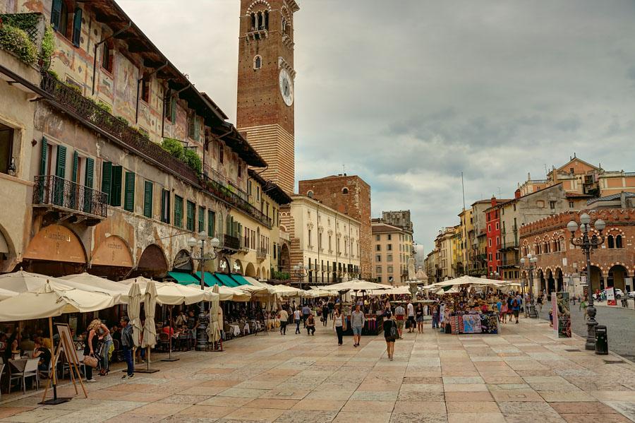 Piazza dell Erbe, Verona, Italy