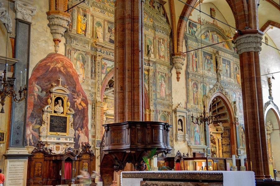 Inside Verona Duomo, Italy