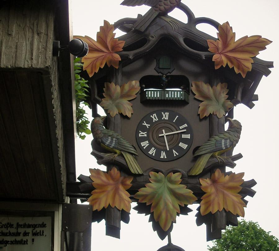 A clock in Bacharach, Rhine Valley, Germany