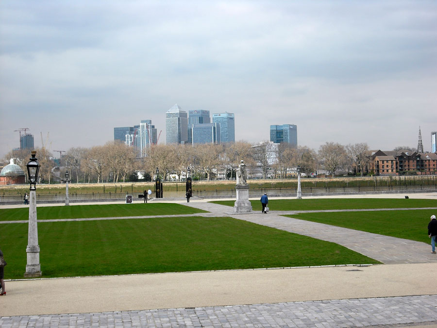 View to Canary Wharf from the Royal Naval College in Greenwich