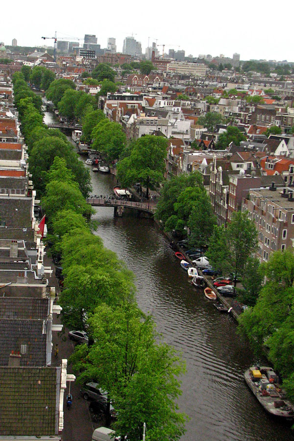 View from the top of Westerkerk, Amsterdam