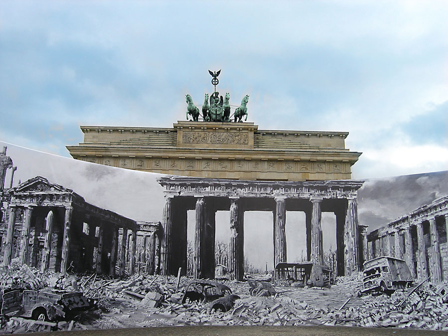 Brandenburg Gate, now and then, Berlin