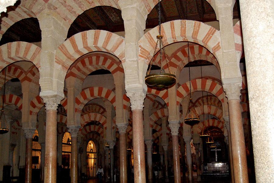 Arches of Mezquita, Cordoba, Spain