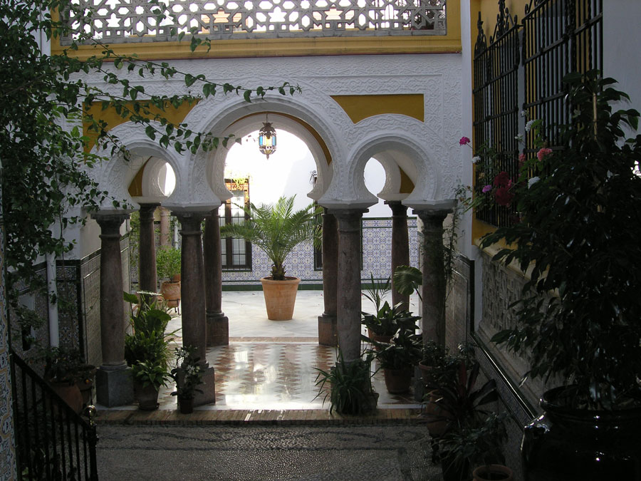 A courtyard in Cordoba, Spain