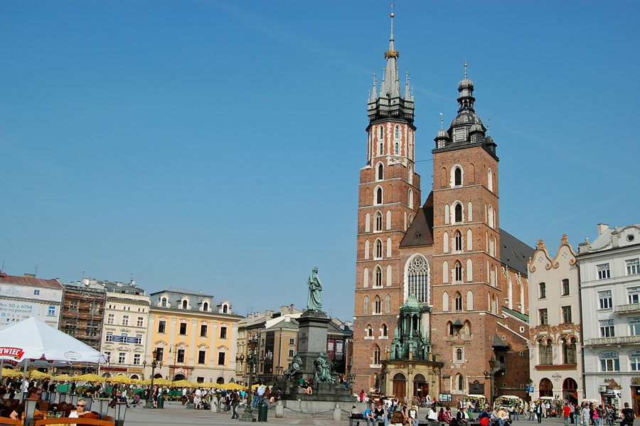 Market Square and St Mary, Cracow