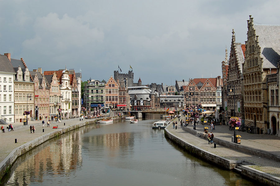 Graslei, Ghent, Belgium