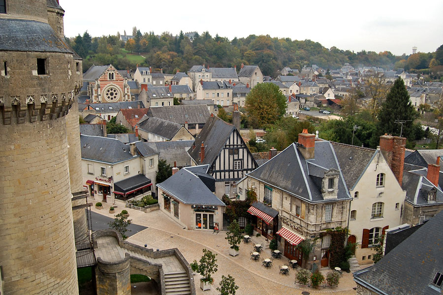 View upon Langeais, Loire Valley