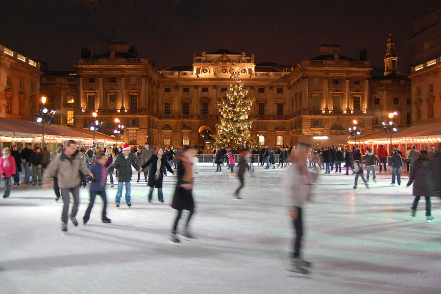 Skating rink at the Somerset House, London