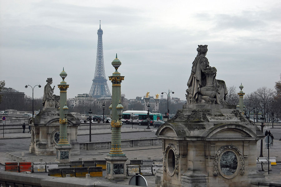 Place de la Concord, view to Eiffel Tower, Paris