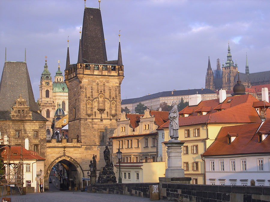 Approaching Little Quarter on Charles Bridge