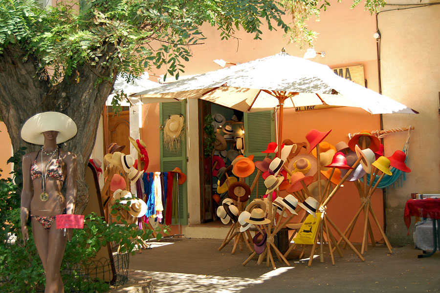 A hat shop in St-Tropez, French Riviera