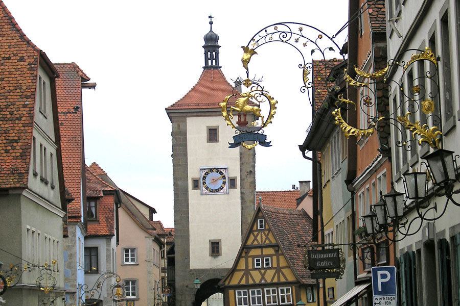 In Rothenburg-ob-der-Tauber, Germany