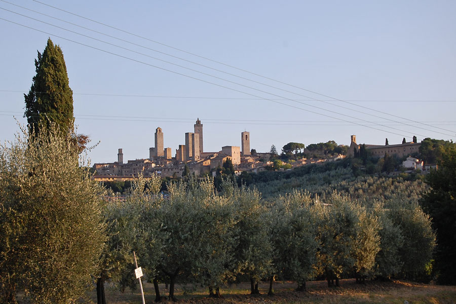 View to San Gimignano, Italy