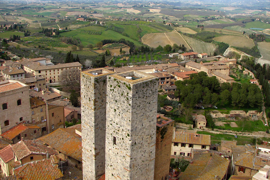 View from Torre Grossa, San Gimignano, Italy